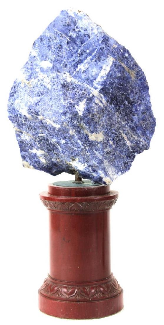 Rich Blue Lapis Lazuli Sculpture.
