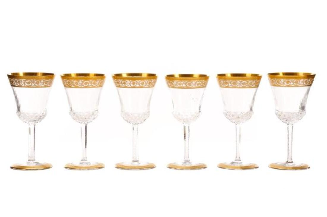 SET OF 7 ST LOUIS CRYSTAL 'THISTLE' GOBLETS