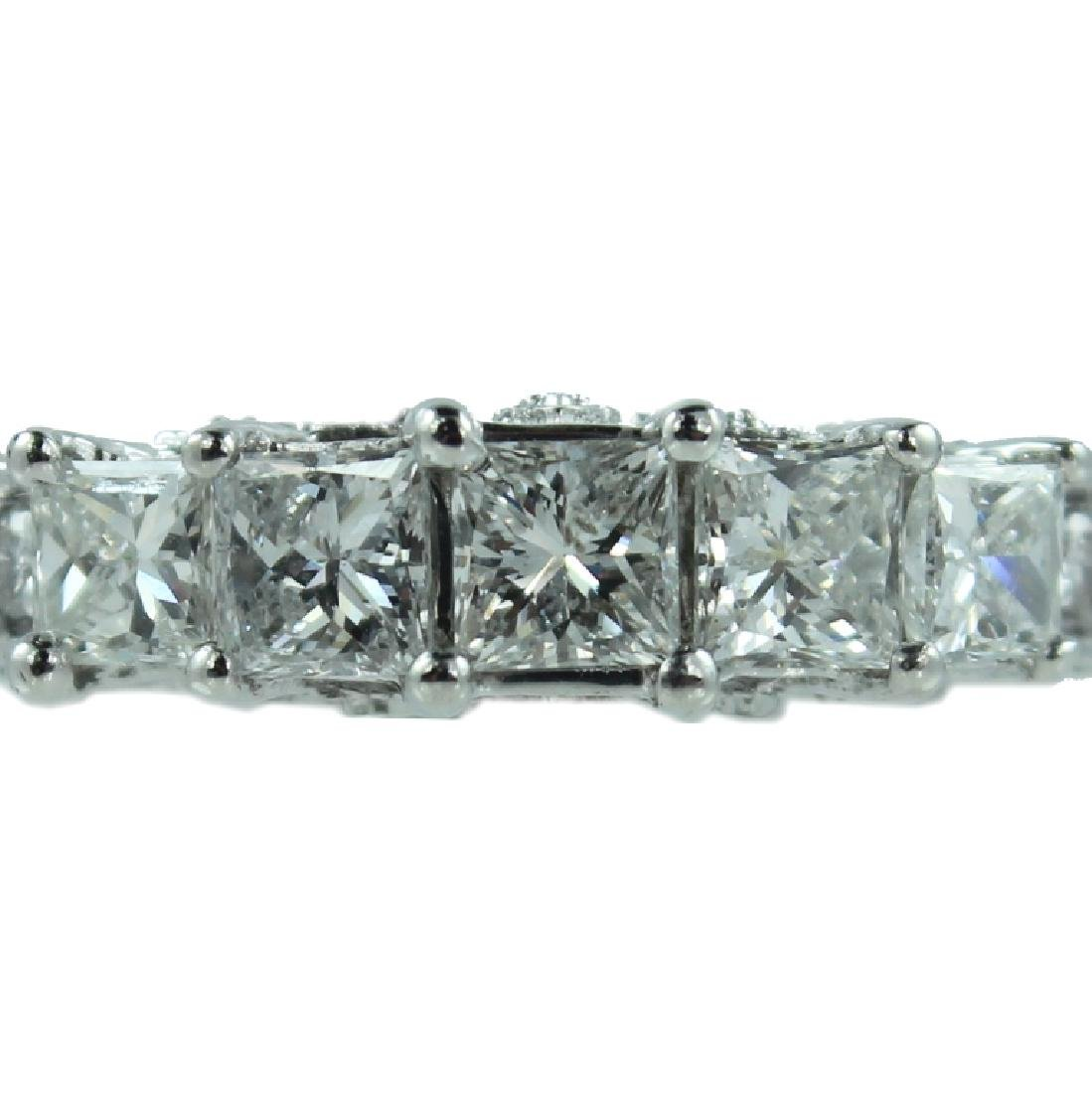 14K Princess cut diamond Wedding Ring
