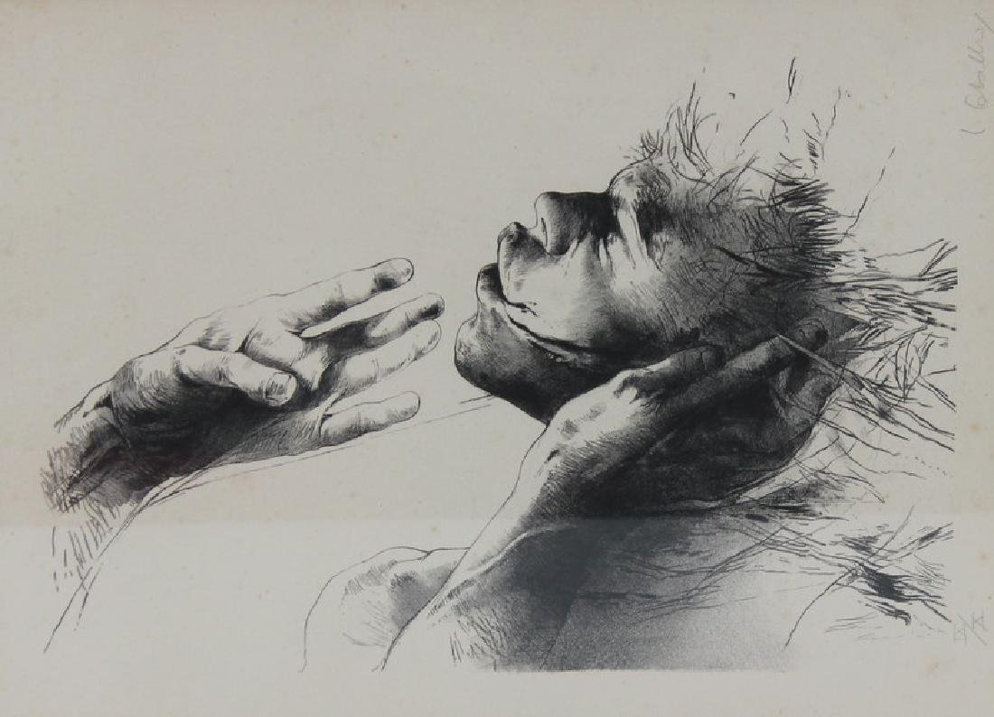 """Work on paper. Signed. Etching. """"My Touch"""""""