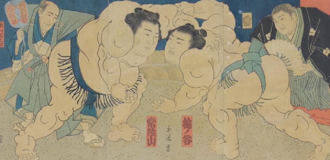 """Print. Heikichi Matsuki. Artist. Gyokuha. """"SUMO"""""""