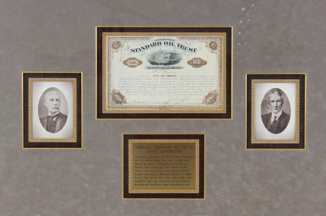Oil Trust Certificate,Signed Rockefeller Dated1885