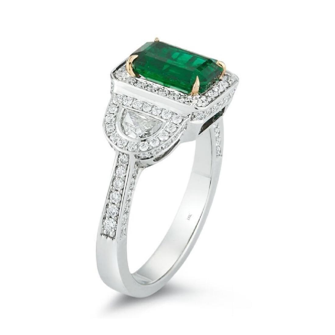 C. Dunaigre, Emerald And Diamond Ring