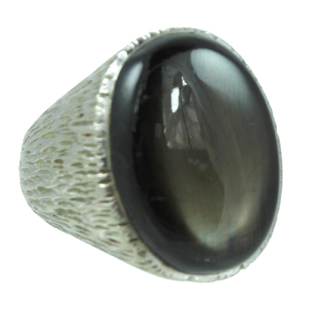Mens 14K Black Sapphire Ring.