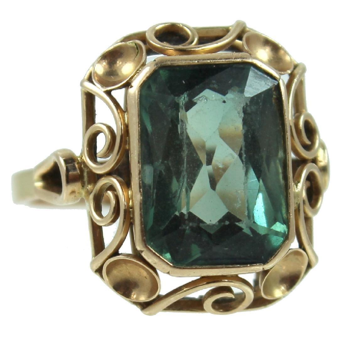 14K Holland Blue Sapphire Ring.