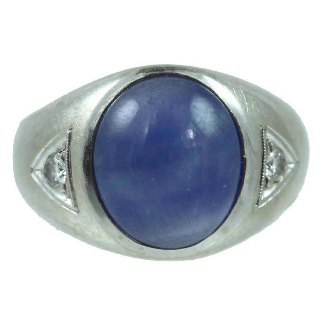 Mens 14K Sapphire Ring.