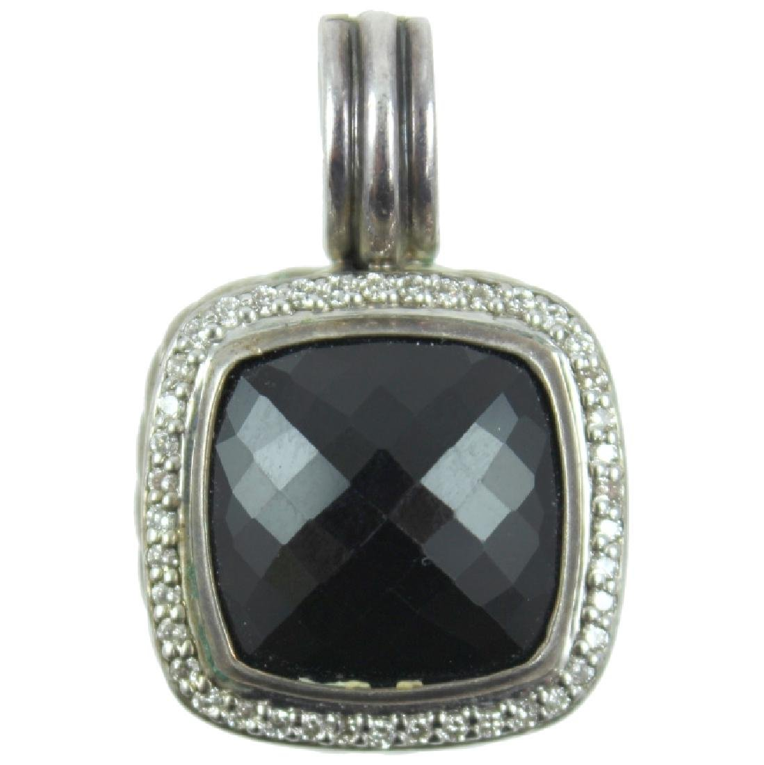 David Yurman Onyx Pendant.