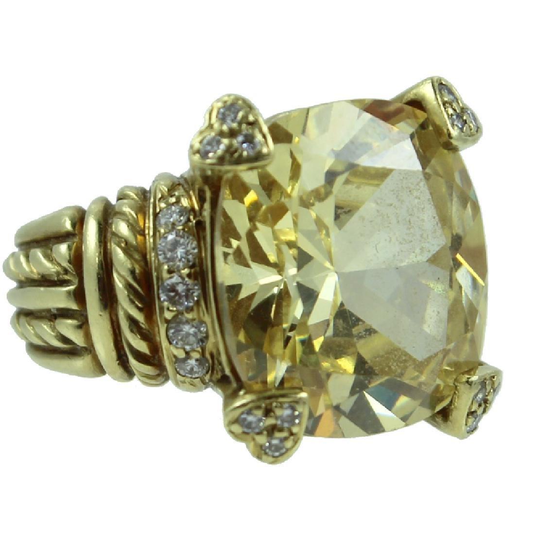 18K Judith Ripka Diamond Ring.
