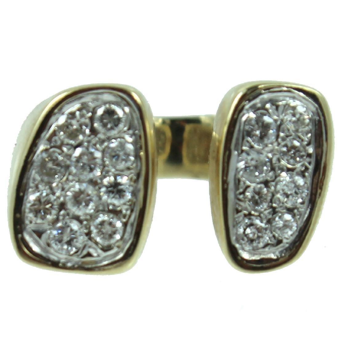 Mens 14K Diamond Ring.