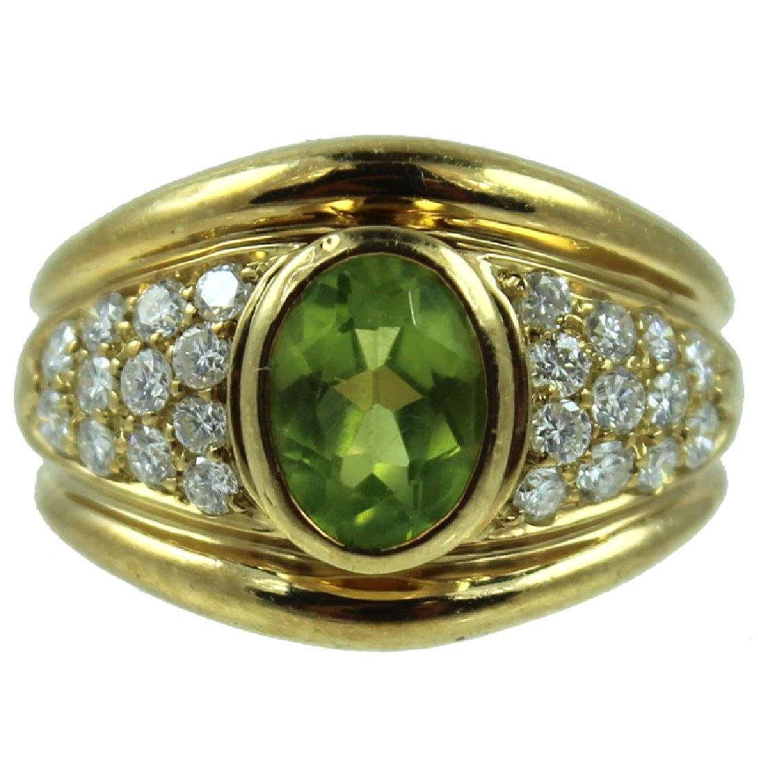 Movado Peridot & Diamond Ring.