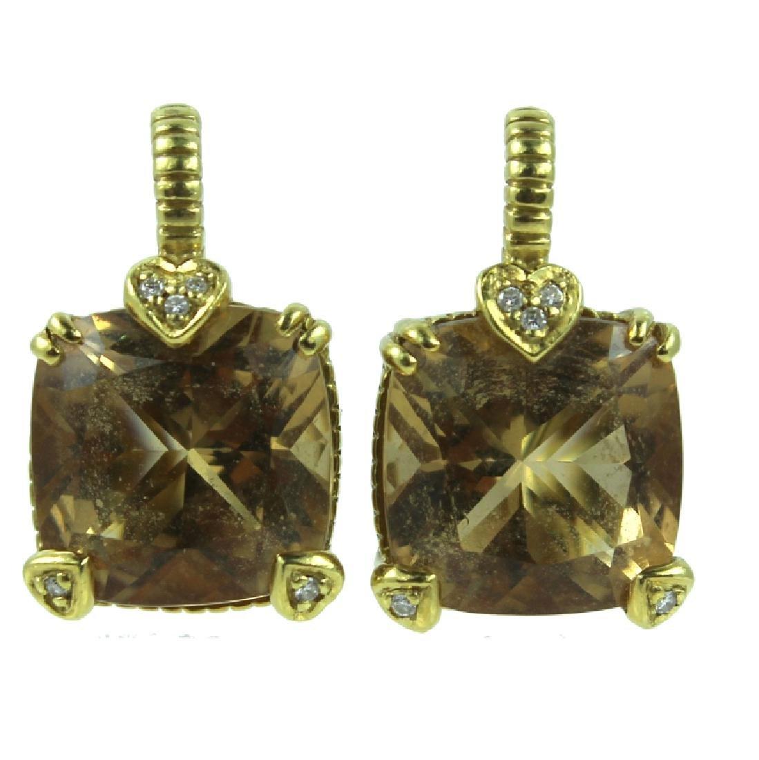 Judith Ripka Diamond Earrings.