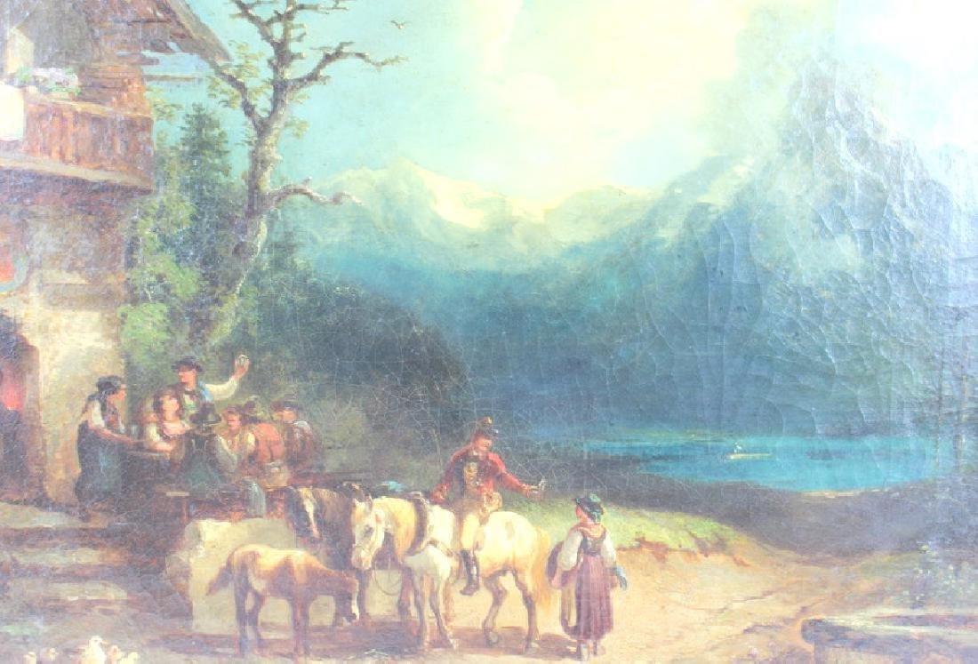 Carl Schlensinger Oil on Canvas.