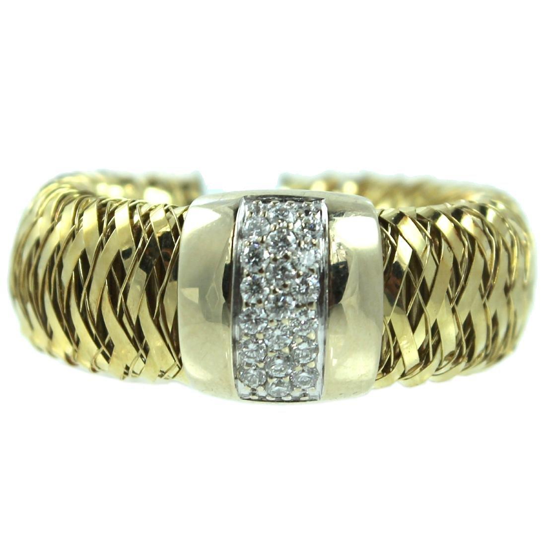 18K Yellow Gold Roberto Coin Primavera Ring.
