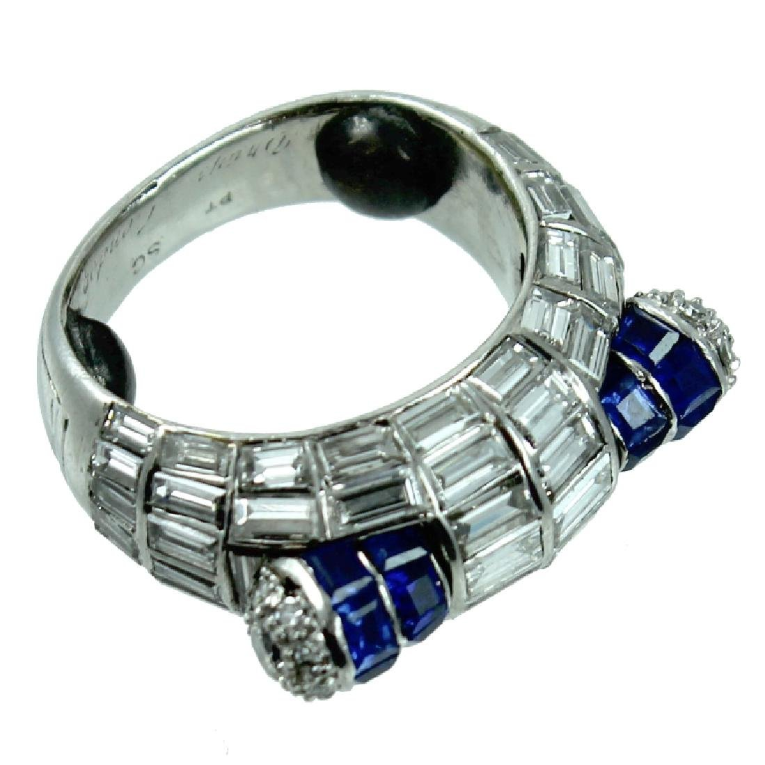 Grayson Jewelers Diamond & Sapphire Ring.