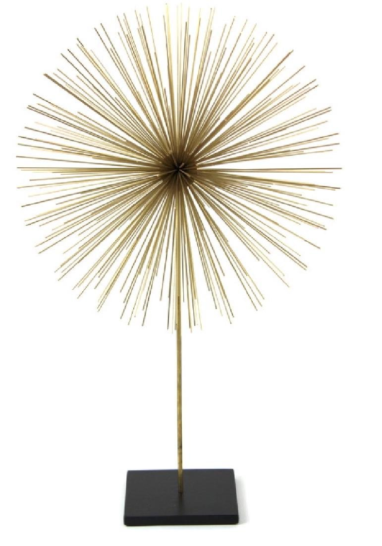 Modern Gilt Metal Star Burst Sculpture.