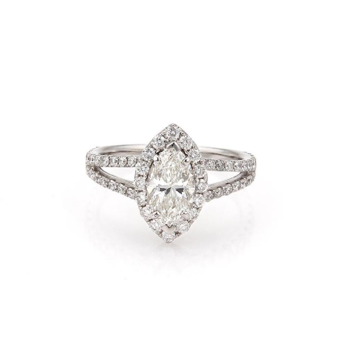 GIA Certified, 2.13 TCW Marquise Engagement Ring