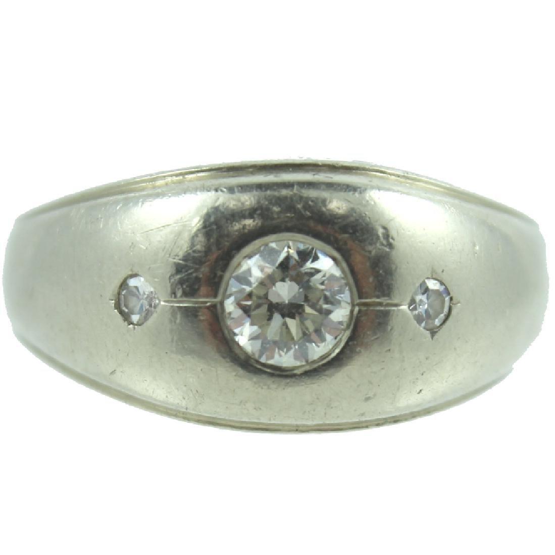 Men's 14K White Gold & Diamond Ring