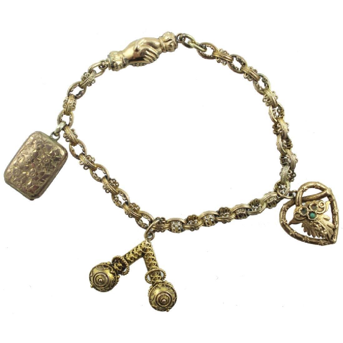 10K-14K Antique Charm Bracelet