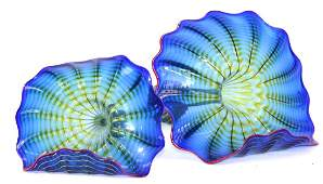 Habatat Dale Chihuly Blue Persia Art Glass.