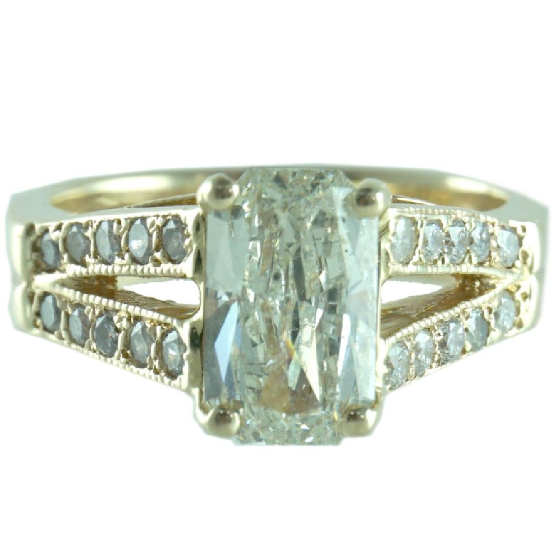 EGL Certified, 2.51 TCW Radiant Engagement Ring.