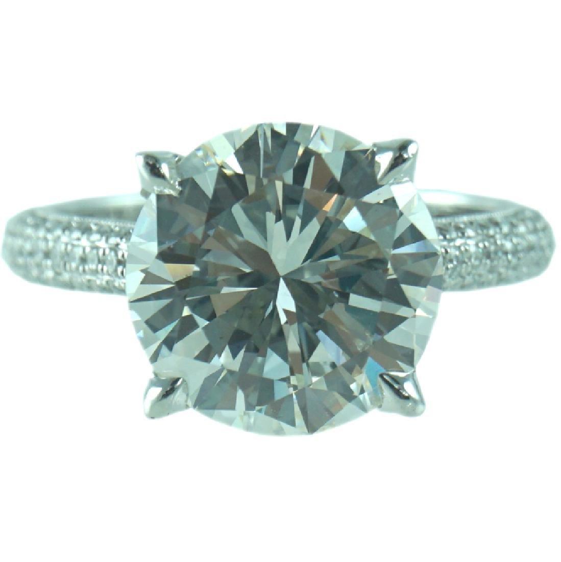 GIA Certified, 18K 5.07 ct Diamond engagement Ring