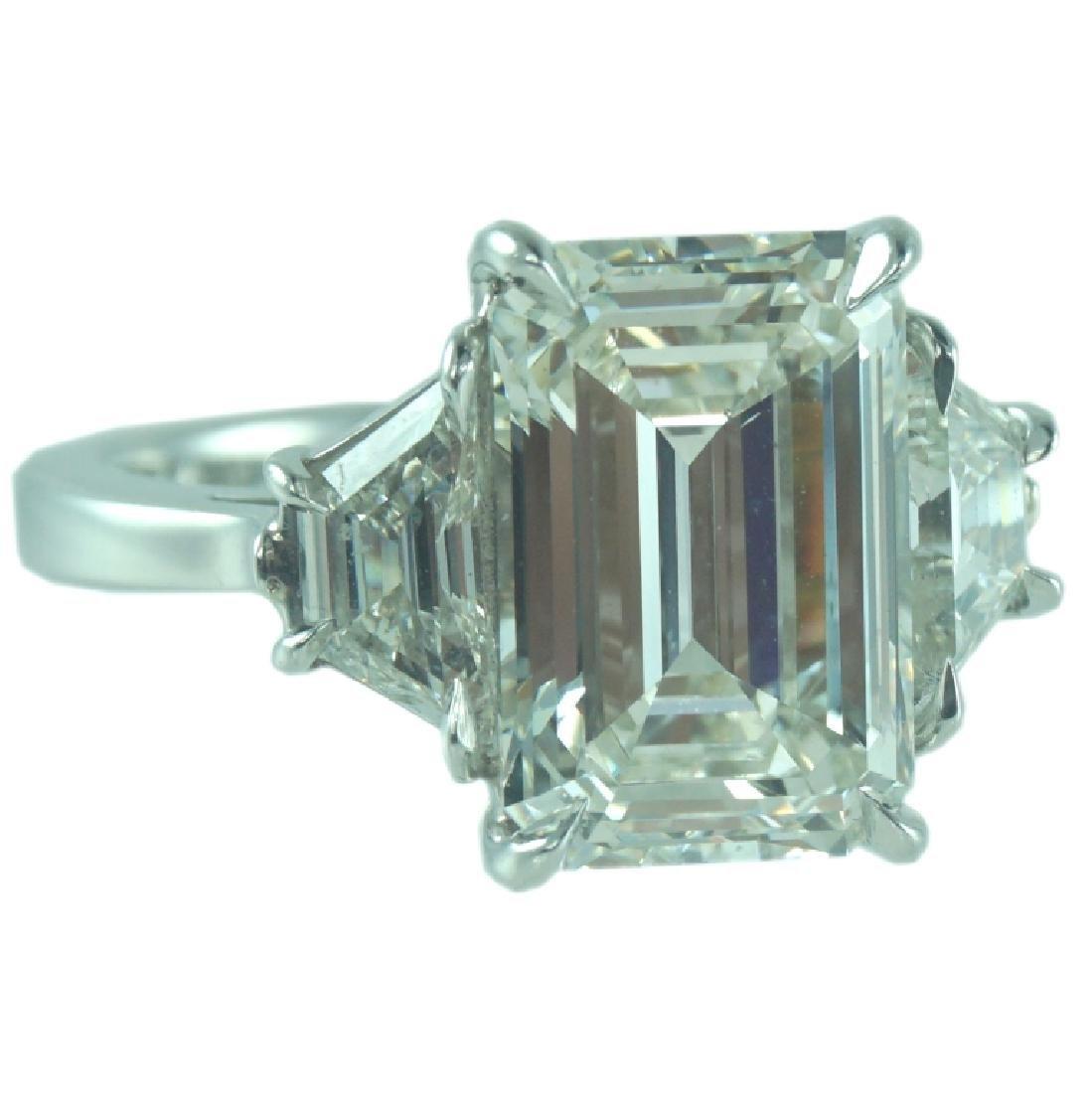 GIA certified, 5.03 Carat VS2/J Engagement Ring - 2
