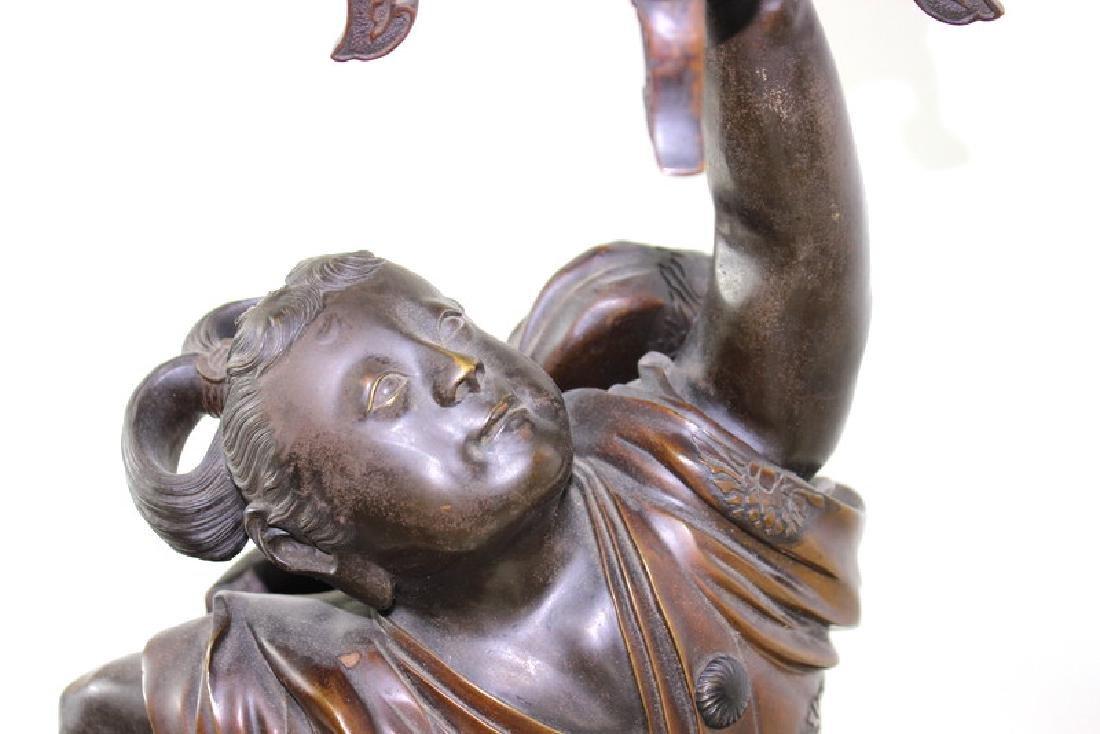 Monumental Japanese Meiji Figural Bronze - 10