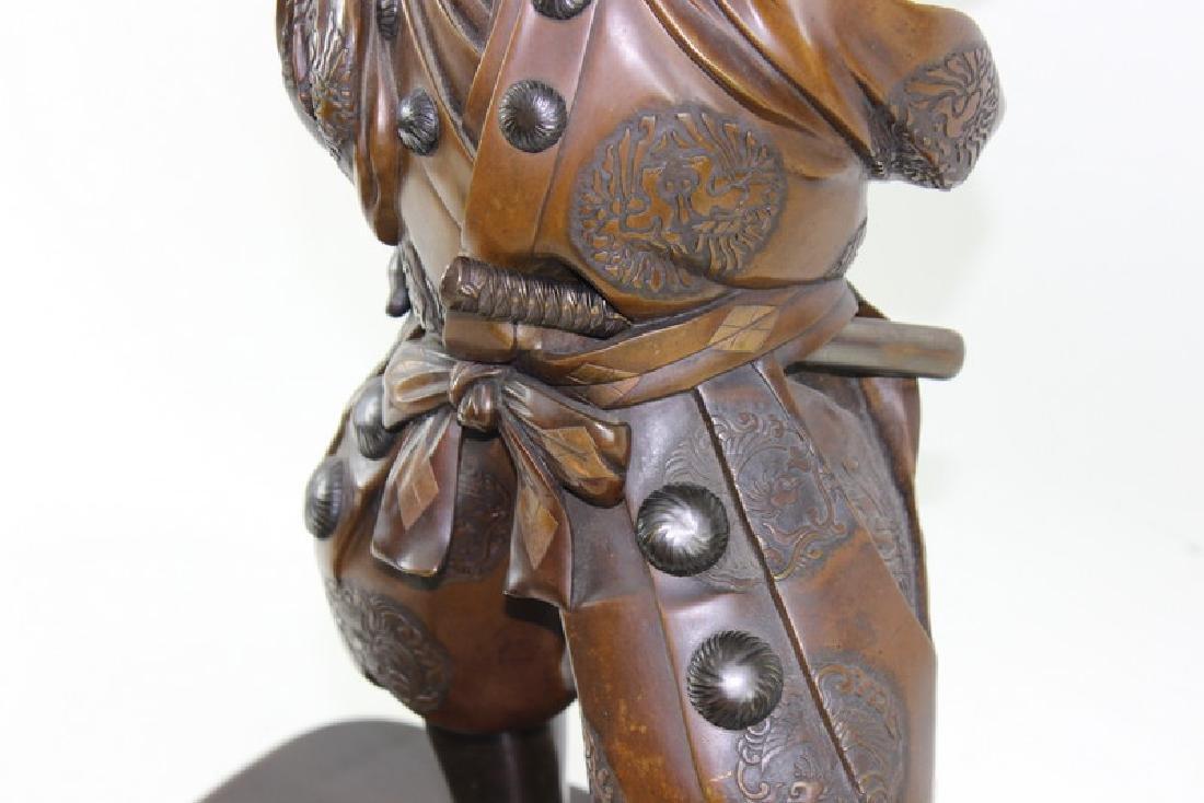 Monumental Japanese Meiji Figural Bronze - 3