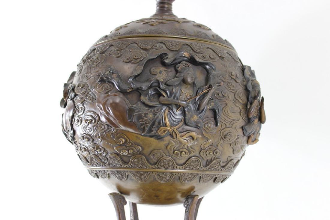 Monumental Japanese Meiji Figural Bronze - 4