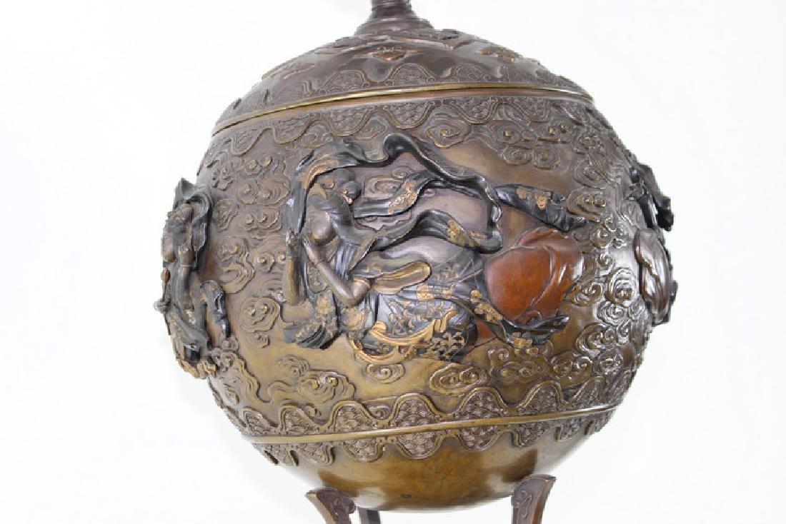 Monumental Japanese Meiji Figural Bronze - 5