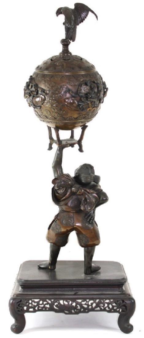 Monumental Japanese Meiji Figural Bronze - 8