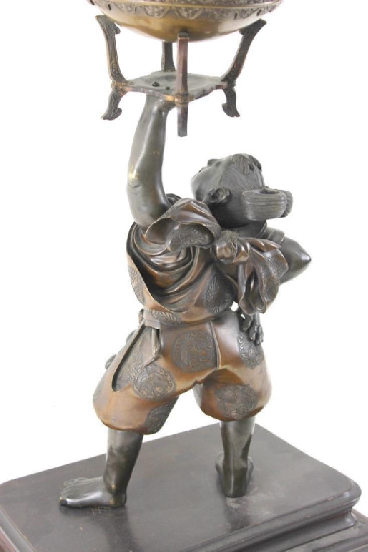 Monumental Japanese Meiji Figural Bronze - 9