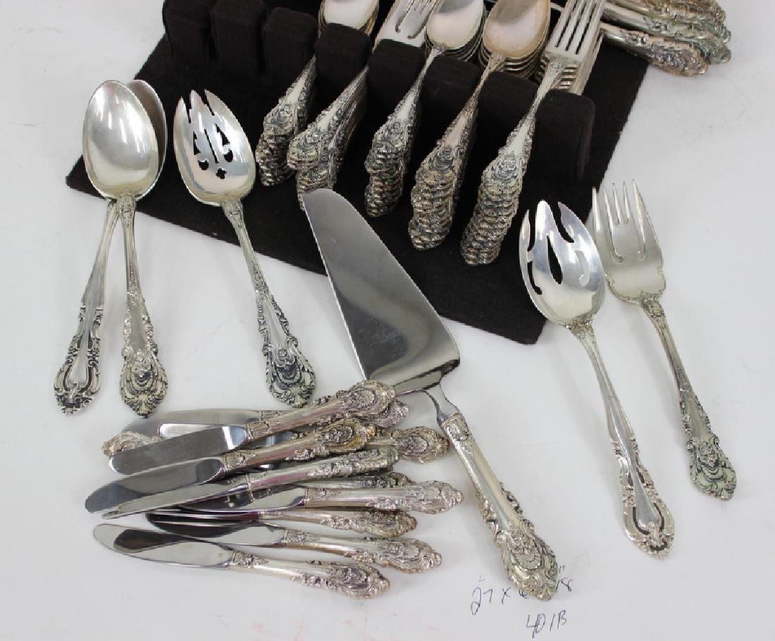 Vintage Wallace Sterling Silver 87pc. Set - 3
