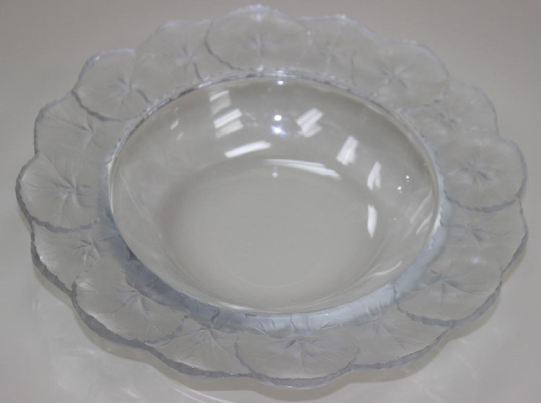 Lalique French Art glass Leaf Bowl.