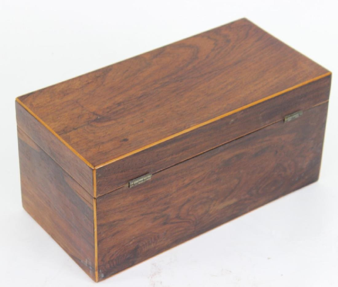 Antique Wooden Tea Caddy - 2