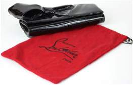 Christian Louboutin Patent Leather Bow Clutch
