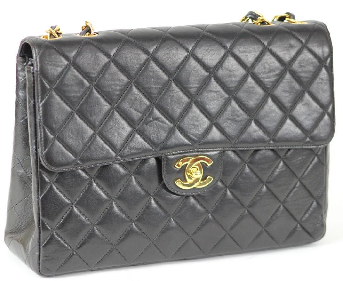 Chanel Quilted Jumbo Classic Single Flap Purse
