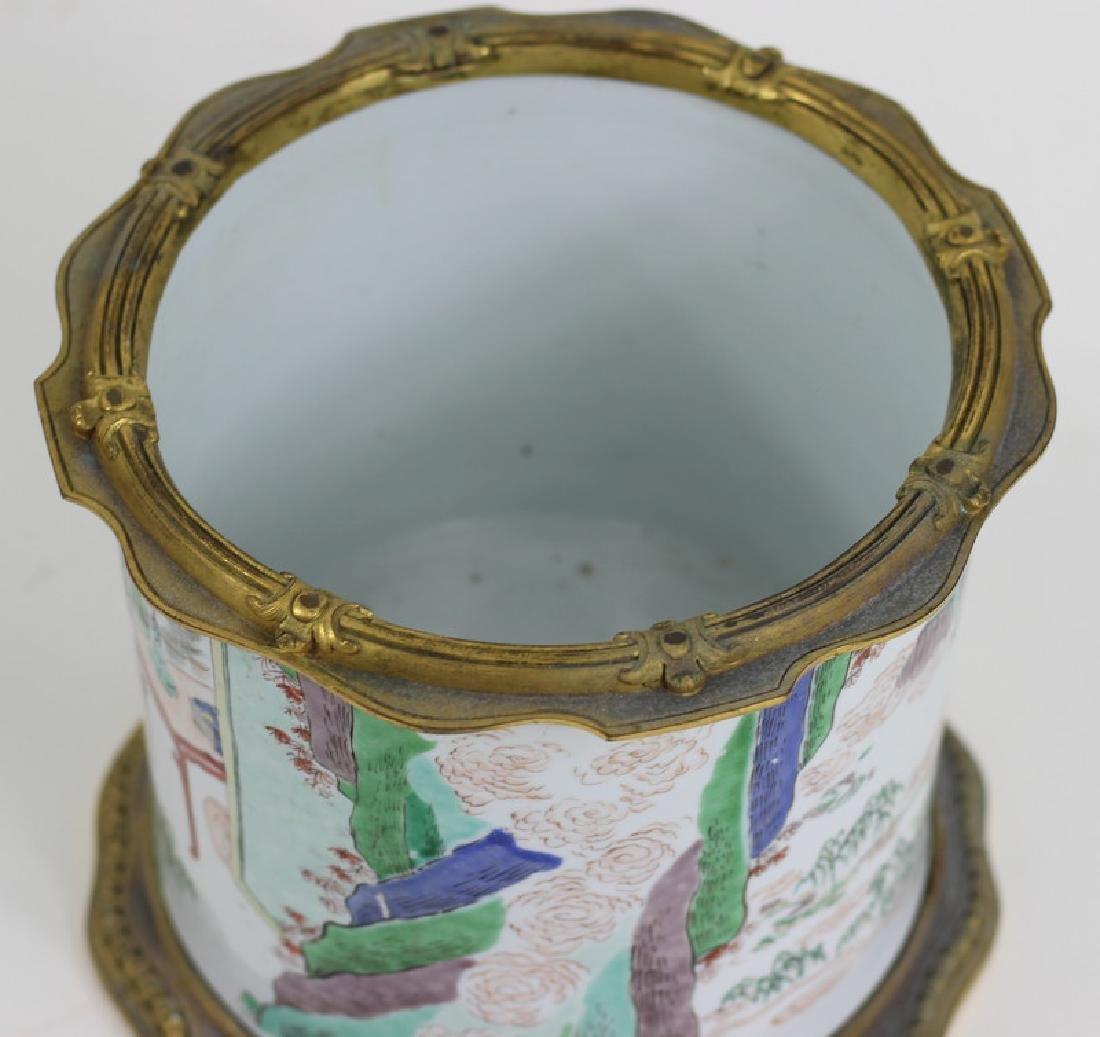Chinese Famille Verte Porcelain Brush Pot - 7