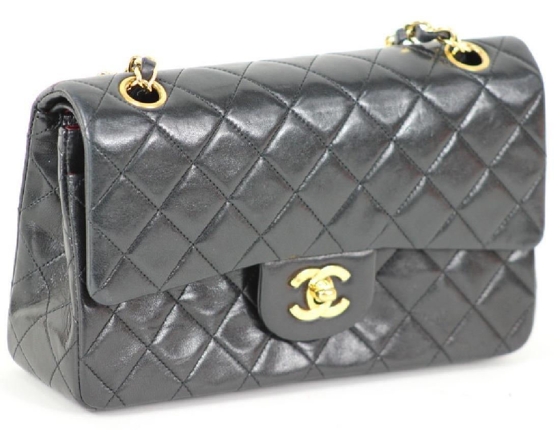 Vintage Chanel Black Classic Double Flap Purse