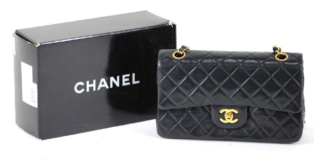 Vintage Chanel Black Classic Double Flap Purse - 2
