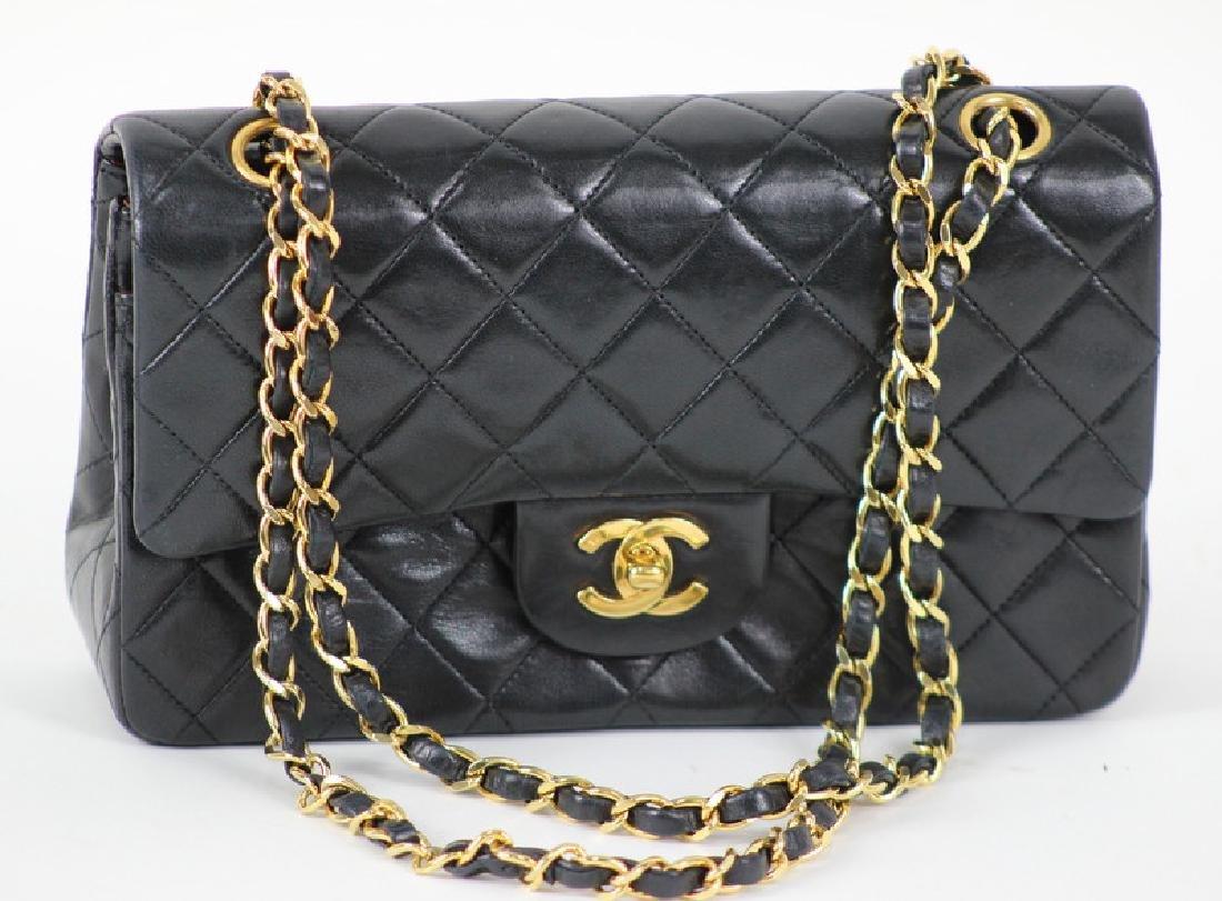Vintage Chanel Black Classic Double Flap Purse - 4