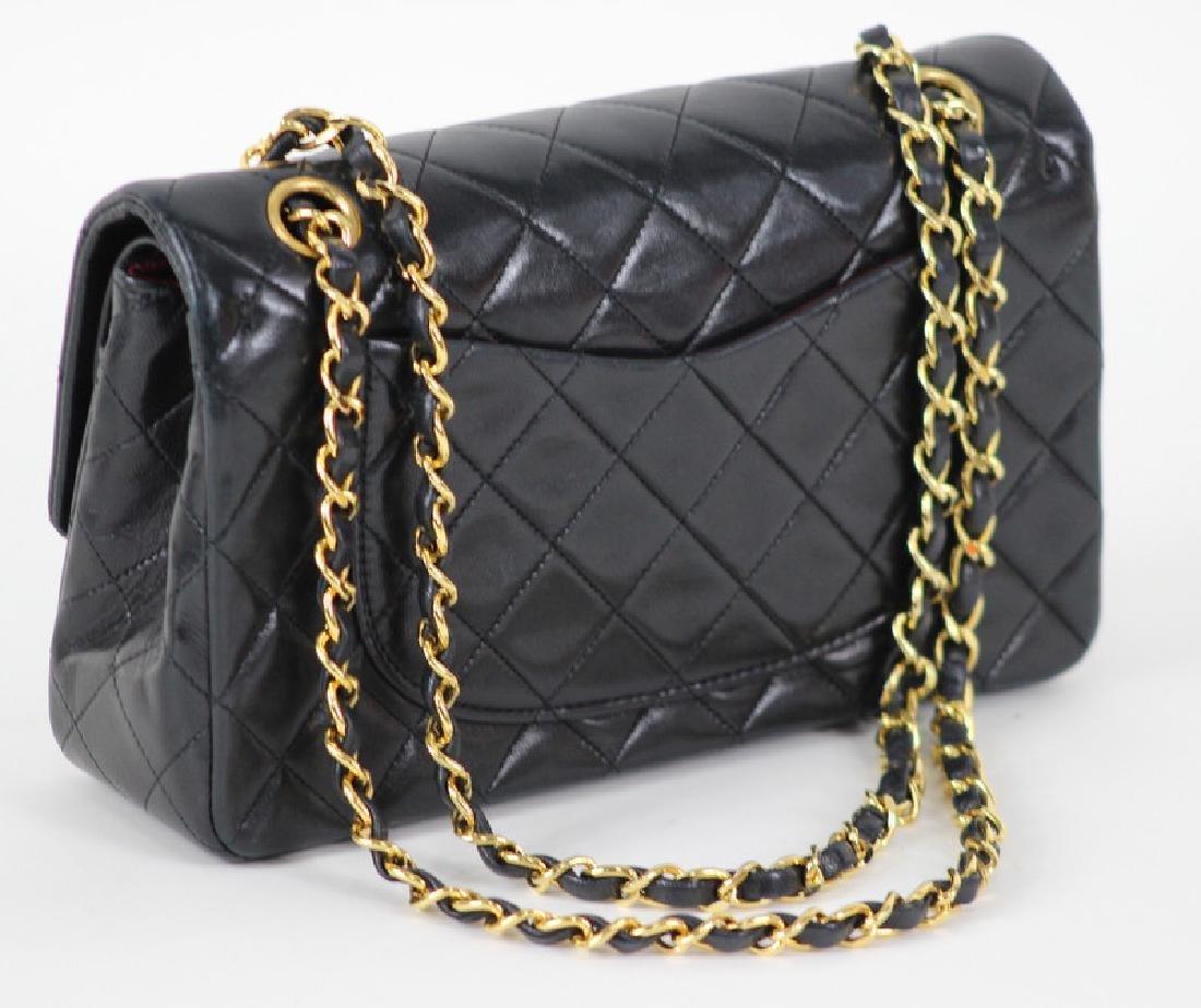 Vintage Chanel Black Classic Double Flap Purse - 5