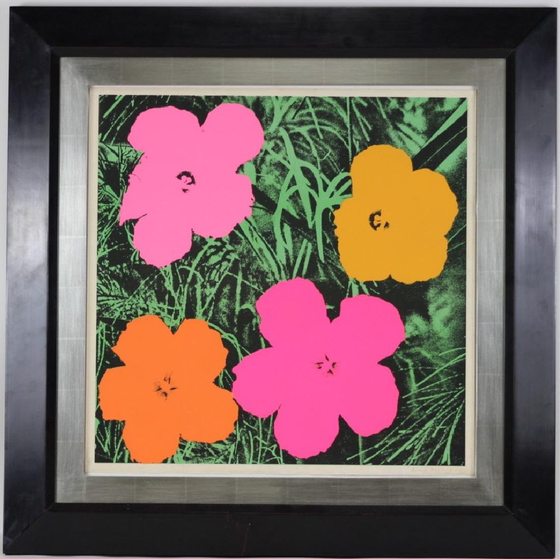 "Original Andy Warhol ""Flowers"" 1964 Lithograph - 3"