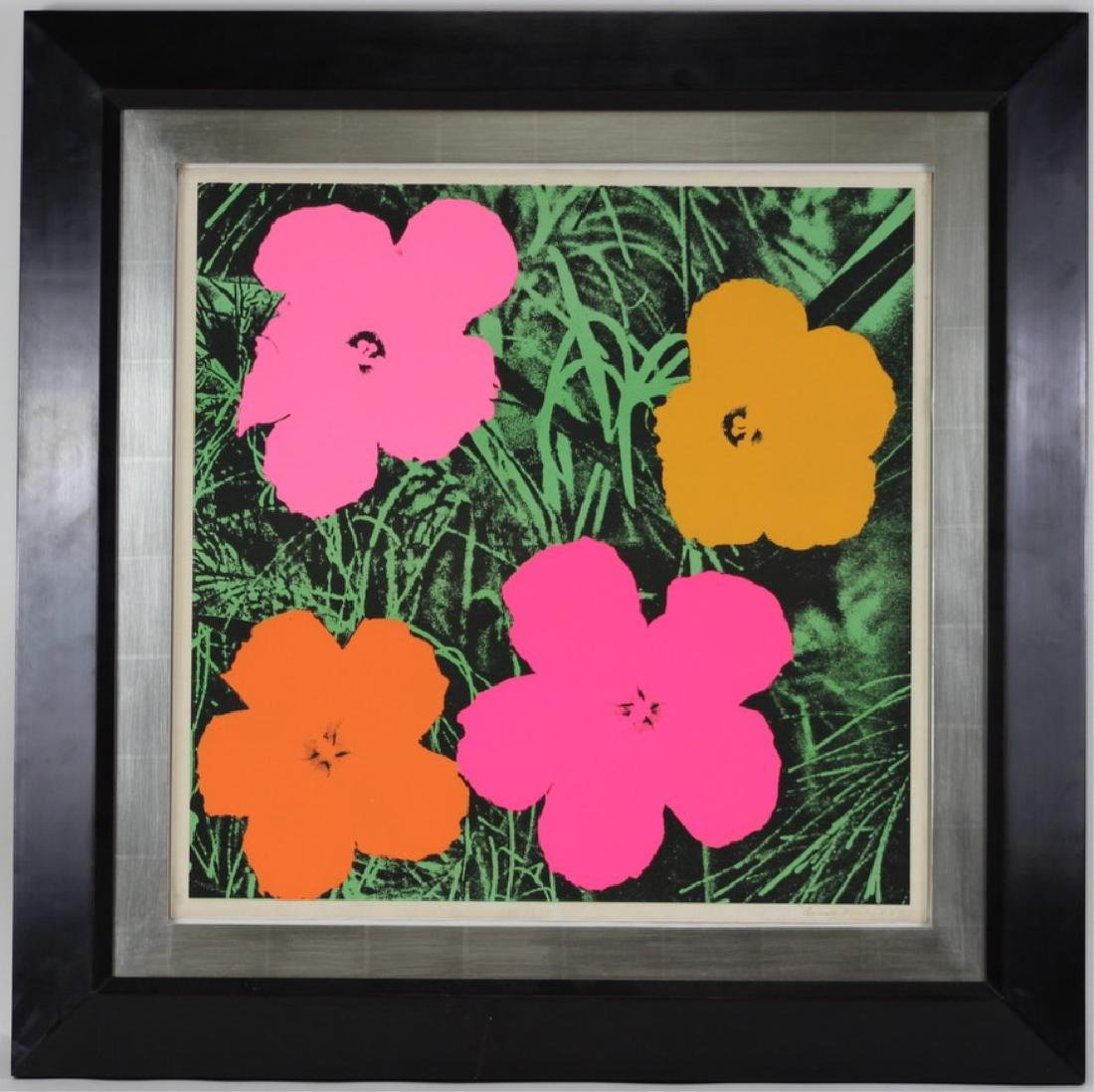 """Original Andy Warhol """"Flowers"""" 1964 Lithograph - 4"""