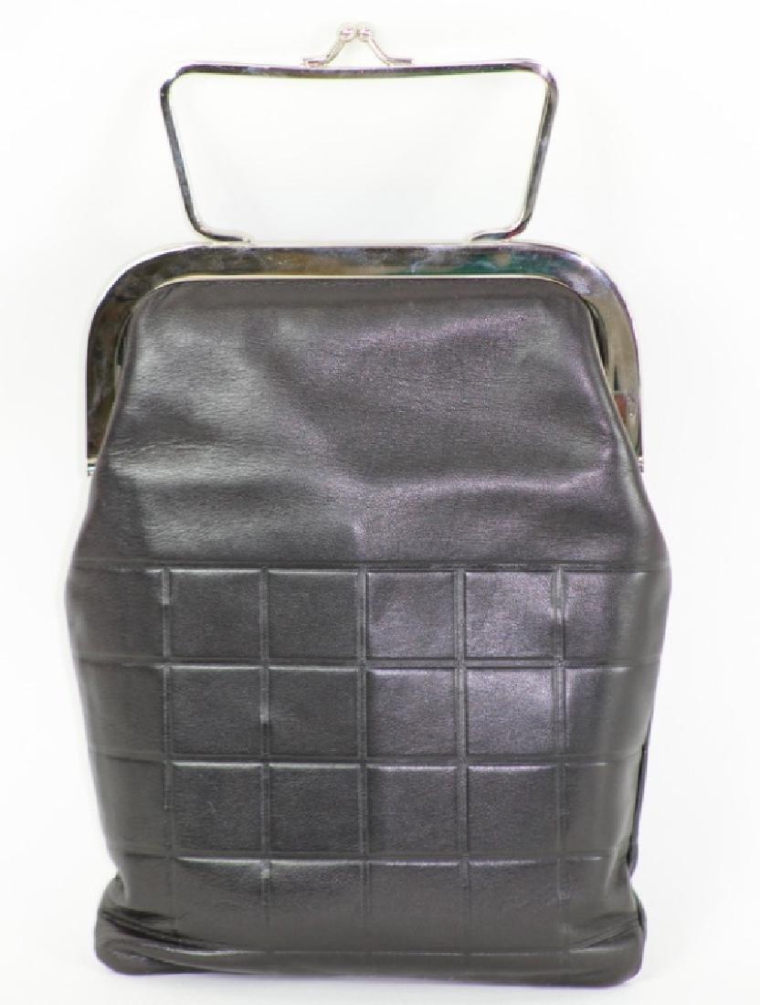 Chanel Black Lambskin Leather Clutch Purse