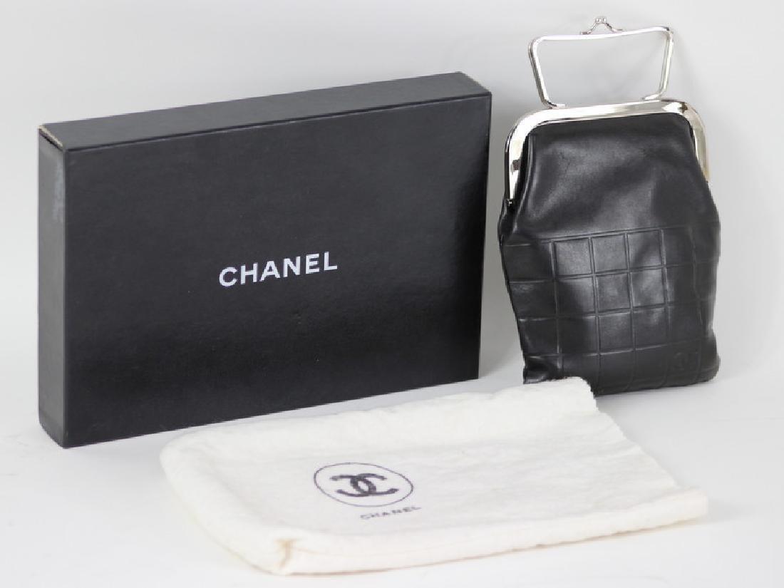 Chanel Black Lambskin Leather Clutch Purse - 2