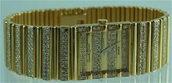 Buche Girod 18K Yellow Gold & Diamond Link Watch
