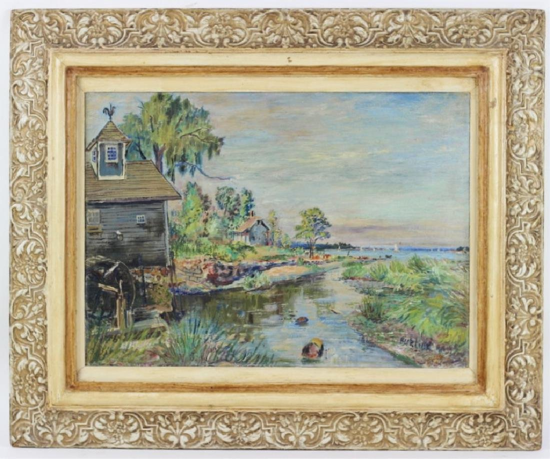 David Burliak Original River Scene Oil Painting