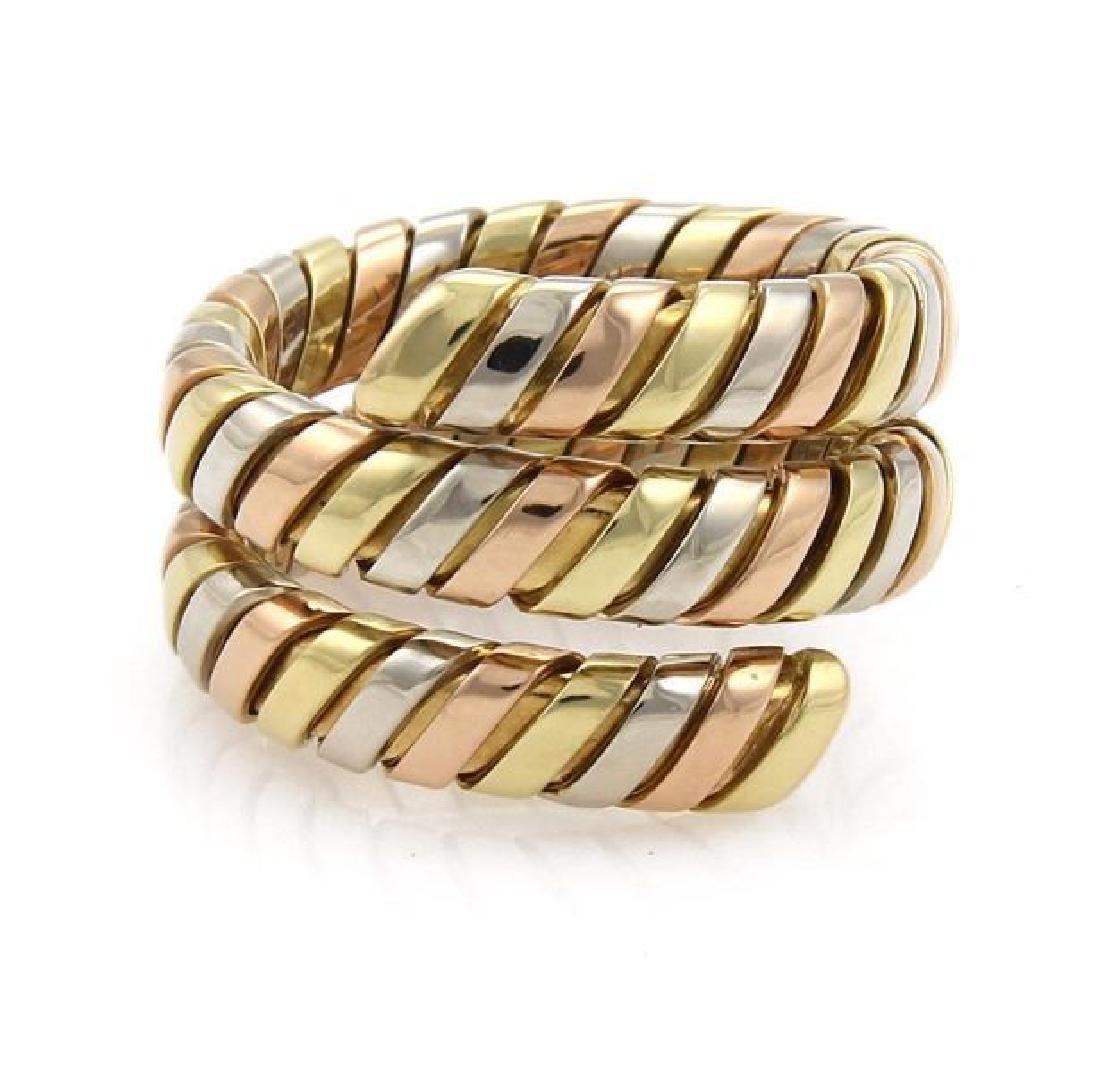 Bvlgari Bulgari Tubogas 18k Gold Wrap Band Ring