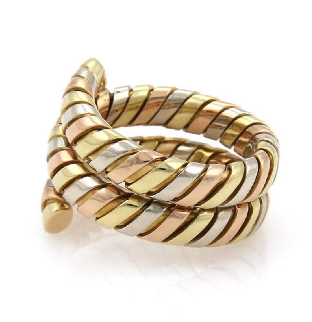 Bvlgari Bulgari Tubogas 18k Gold Wrap Band Ring - 2